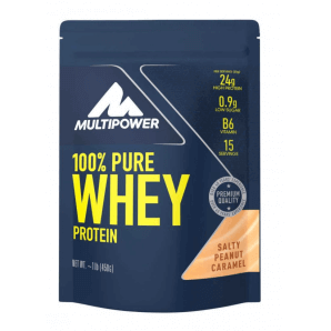 Multipower 100% Pure Whey Protein Salty Peanut Caramel Bag (450g)
