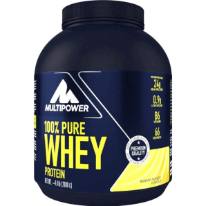 Multipower 100% Pure Whey Protein Banana Mango Can (2000g)