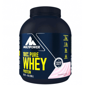 Multipower 100% Pure Whey Protein Strawberry Splash Can (2000 g)