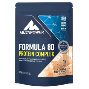 Multipower Formula 80 Protein Complex Cookies & Cream Bag (510g)