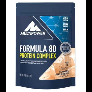 Multipower Formula 80 Protein Complex Cookies & Cream Sachet (510g)