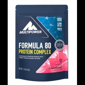 Multipower Formula 80 Protein Complex Strawberry Beutel (510g)