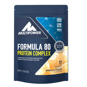 Multipower Formula 80 Protein Complex Vanilla Cream Bag (510g)