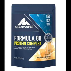 Multipower Formula 80 Protein Complex Vanilla Cream Beutel (510g)