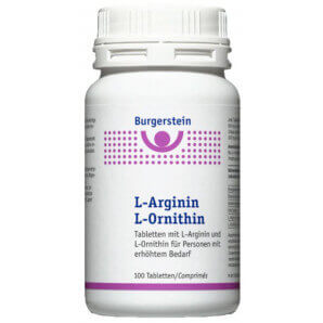 Burgerstein L-arginine L-ornithine (100 pcs)