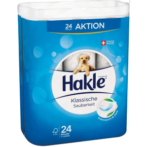 Hakle classic clean toilet paper white FSC (24 pcs)