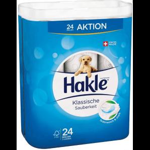 Hakle Klassische Sauberkeit Toilettenpapier weiss FSC (24 Stk)
