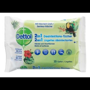 Dettol 2in1 Desinfektions-Tücher (15 Stk)