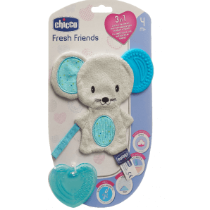 Chicco soft animal removable teether Boy 4m +