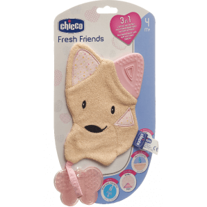 Chicco soft animal removable teether Girl 4m +