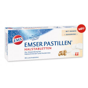 EMSER pastilles with ginger sugar-free (30 pieces)