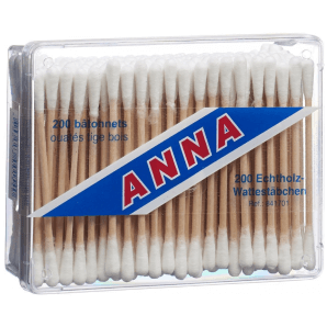 Anna cotton swab wood (200pcs)