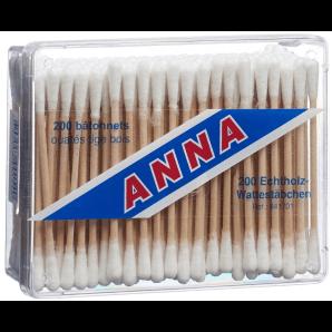 Anna Wattestäbchen Holz (200stk)