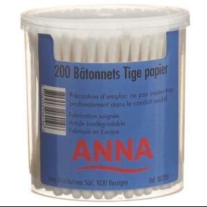 Anna Wattestäbchen Papier (200stk)