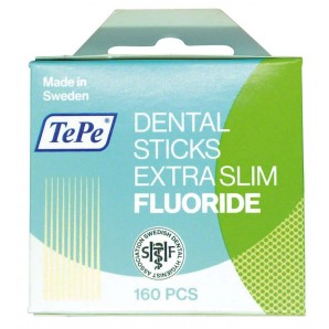 TePe Zahnstocher Dental Sticks extra slim Fluoride (160 Stk)