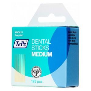 TePe Zahnstocher Dental Sticks Medium Fluoride (125 Stk)