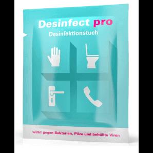 Desinfect pro Desinfektionstuch (10 Stk einzeln verpackt)