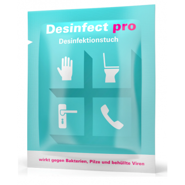 Desinfect pro disinfectant wipe (10 pieces)