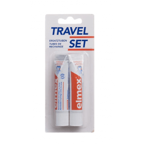 Elmex Travel Set Refill Zahnpasta (2 x 12 ml)
