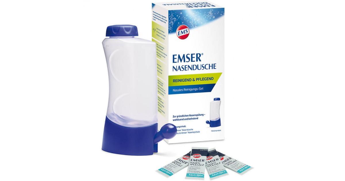 EMSER nasal douche + 4 bags of nasal rinsing salt