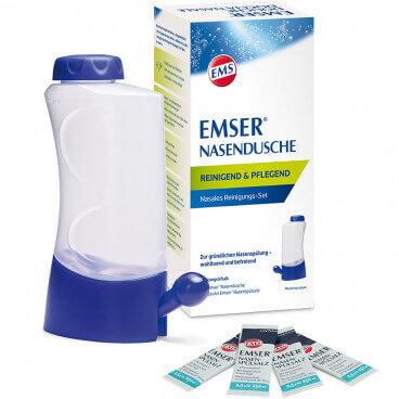 EMSER Nasendusche + 4 Beutel Nasenspülsalz