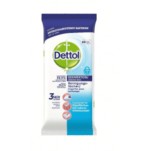 Dettol disinfectant / cleaning wipes (60 pcs)