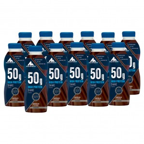 Multipower 50g High Protein Shake PET Chocolate (12 x 500ml)