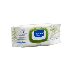 Mustela olive oil cleaning wipes (50 pcs)
