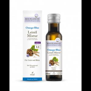 BIO PLANETE Omega Blue Mélange d'huile de lin (100ml)