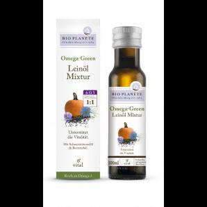 BIO PLANETE Omega Mélange d'huile de lin vert (100ml)