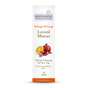 BIO PLANETE Omega Orange Leinöl Mixtur (100ml)