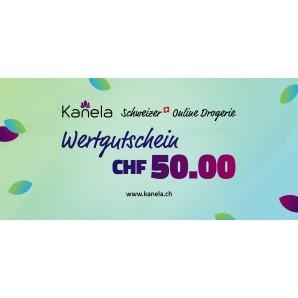 Kanela Wertgutschein im Wert von CHF 50.00
