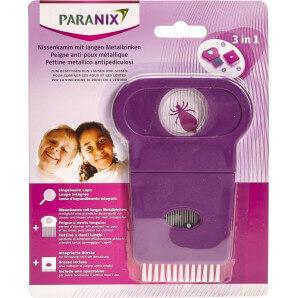 Paranix Peigne nit avec de longues dents métalliques (1 pc)