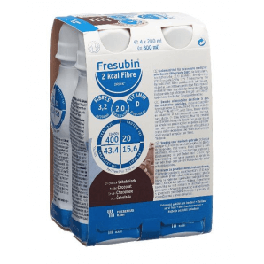 FRESUBIN 2 kcal Fibre DRINK Schokolade (4x200ml)