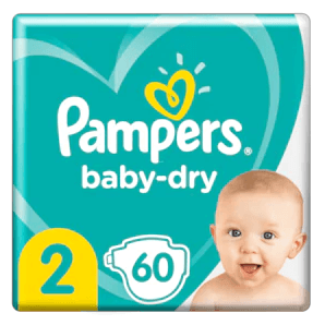 Pampers - Baby Dry Gr.2 4-8kg (60 pcs)