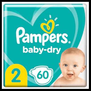Pampers - Baby Dry Gr.2 4-8kg (60 Stk)