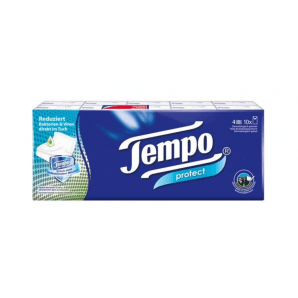 Tempo Protect Handkerchiefs (10 x 9 pieces)