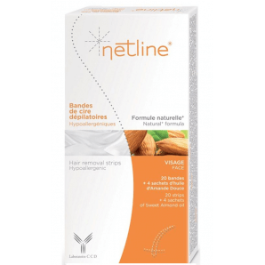 Netline hypoallergenic cold wax strips face (20 pcs)