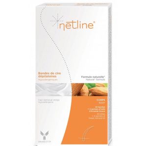 Netline Bandes de cire froide hypoallergénique (20 pièces)