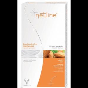 Netline hypoallergene Kaltwachsstreifen Körper (20 Stk)
