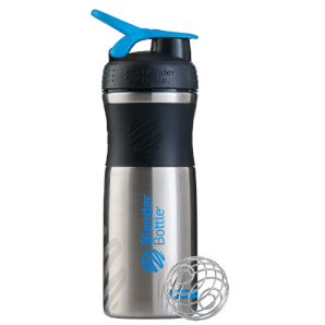 BlenderBottle SportMixer Stainless Black/Cyan (820ml)