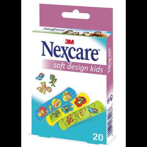 3M Nexcare Kinderpflaster Soft Kids Design Pflaster (20 Stk)