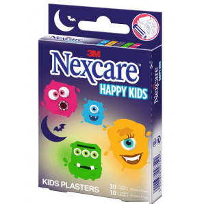 3M Nexcare children's plasters Happy Kids Monsters (20 pcs)