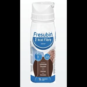 FRESUBIN 2 kcal Fiber DRINK Chocolate FlatCap (4x200ml)