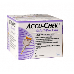 Accu-Chek Safe-T Pro Uno disposable lancing device (200 pieces)