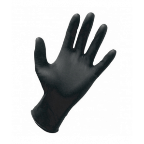 Bate nitrile gloves black size M (20 pcs.)