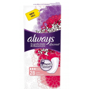 Always discreet incontinence liner (28 pcs)