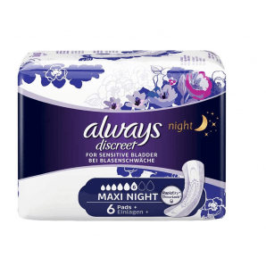 Always discreet incontinence maxi night (6 pcs)
