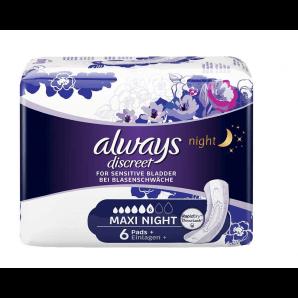 Always discrète incontinence maxi nuit (6 pièces)