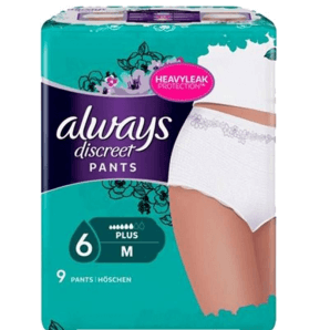 Always Discreet Inkontinenz Höschen Pants Plus Medium (9 Stk)